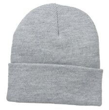 Ash Grey Grey Watch Stocking Cap Beanie Winter Stocking Hat Knit Cold Weather