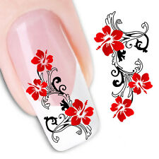 Adesivi stickers n° 9 per la decorazione di unghie, nail art FX1441 Fiori rosse