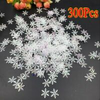 300x Holiday Party Home Decor Christmas Classic Shiny Snowflake Ornaments Tree^^