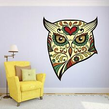 Owl Head Animal Tribal Day of the Dead wall sticker ss9