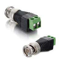 CCTV CAT5 Coax Coaxial Camera BNC Video Balun Cable Connector Adapter Socket