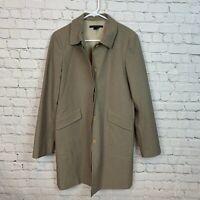 Theory Square Coat Women's Jacket Large Autumn Plaid Wool Blend Long Blazer $695