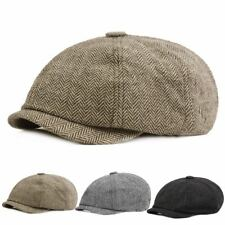 6fff0416e9793 Peaky Blinders Wool Blend Bakerboy tweed Newsboy Hat Country Gatsby Flat Cap