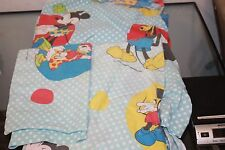 Set Mickey Donald Duck Twin Size Fitted Bed Sheet Fabric Disney + pillow cover