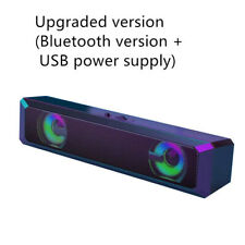 Usb Computer Speakers Sound Bar with Rgb Led Lights for Pcs, Desktop, Laptops