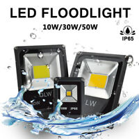 LED Flood Lights Cool White Outdoor Light COB Integrated 10/30/50W AC/DC 12V