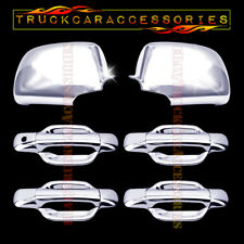 For GMC Canyon 2004-2009 2010 2011 Chrome Cover Set Full Mirrors + 4 Doors w/o