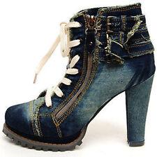 Women's Zip Denim Boots
