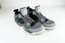"Nike Air Jordan 4 Retro ""Green Glow""Size 10 308497-033 Basketball Shoes Preowned"