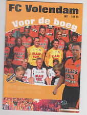Programme / Programma FC Volendam v FC Dordrecht 10-12-2004
