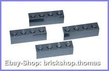 Lego 4 x  Bausteine Steine 1x4 - Basic Bricks Dark Bluish Gray 3010 - NEU / NEW