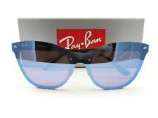 Ray-Ban Sunglasses RB3580N Blaze Cat Eye Black Violet Blue Mirror 153/7V