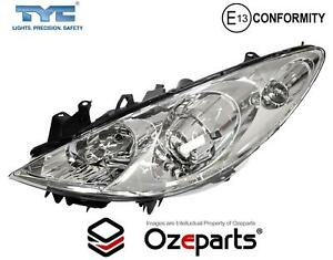 Set / Pair LH+RH Head Light Lamp (Halogen) For Peugeot 307 Series T6 2005~2009