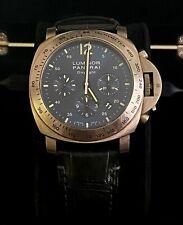 PANERAI Men's Luminor Watch Firenze 1860 Blue Dial Leather Wrist Strap Limited