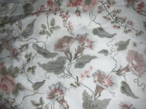 "PRETTY LAURA ASHLEY DRAPES~86""L~PINK,GREEN&IVORY FLORAL"