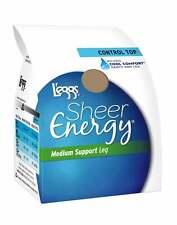 L'eggs Pantyhose Energy Sheer Toe 6 pk Control Top Hosiery sandal Medium Support