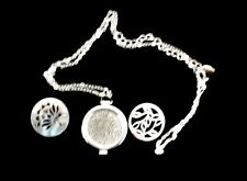 COSTUME JEWELLERY - LOCKET STYLE NECKLACE SILVER NEW