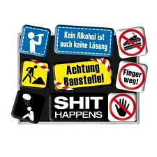 Nostalgie Magnet-Set -Shit Happens