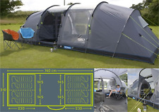 Kampa Watergate 8 (series 3) berth person man tent 2018 CT3061