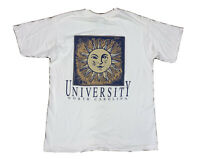 Vtg University of North Carolina UNC Men's XL Single Stitch Double Sided T-Shirt