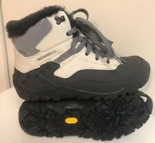 Merrell Vibram Arctic Grip Ash Waterproof Women Boots Size 10