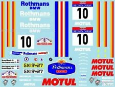 1/24 scale 1987 Rothmans Motul BMW M3 decal set by Museum Collection