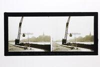 Parigi La Senna Francia Foto Stereo T2L1n3 Placca Da Lente Vintage c1930