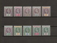 GRENADA 1902 SG 57/66 MINT Cat £250