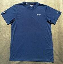 New Ellesse Italia Navy blue poly running/gym top-Mens small