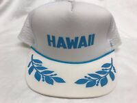 Vintage 80s Hawaii Trucker Hat Baseball Cap Snapback Foam Hawaiian Headwear