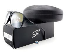 New Serengeti VENEZIA 8191 Sunglasses | Satin Shiny Black / Polarized 555nm Lens