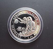 1 onza plata somalia elefante 2016, bu, rar! 1 onza, 999 Silver, banco recién °°