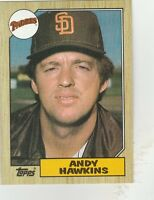 FREE SHIPPING-MINT-1987 (PADRES) Topps #183 Andy Hawkins