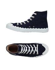 $650.00 Chloe Scalloped Suede High-Top Sneaker US 11 / EU 41 in blue lagoon