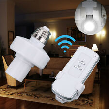 E27 Screw Wireless Remote Control Light Lamp Bulb Holder Socket Switch For Home