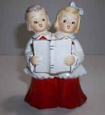 Vintage Lefton CHRISTMAS CAROLER Girls