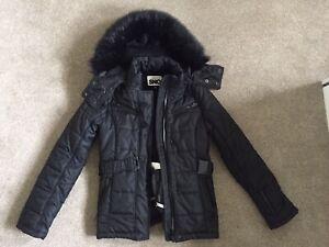 TOPSHOP SKI Jacket Black Very Warm Size4 / 6 / 8