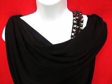 DAVID MEISTER Womens Rhinestone Strap Jersey Stretch Evening Gown Dress 6 M