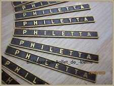 PHILETTA -Schild-Schriftzug-Emblem von Philips