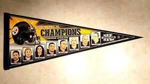 PITTSBURGH STEELERS Pennant Super Bowl XL Champions Roethlisberger Bettis Troy