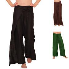 Haremshose Aladinhose mit Gummizug PUMPHOSE Damen offener Beinausschnitt