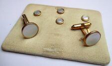 Lot 3 paires de boutons de manchette plaqué or et nacre collector ancien bijou P