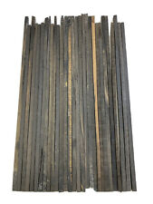 "25  Pieces Of  Gaboon Ebony Wood Sticks/Square Blanks 20"" Length x 3/8"" x 3/8"""