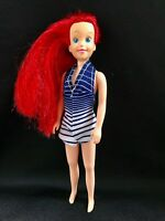 Disney Ariel Princess Mermaid Skipper Sized Doll in Bue Water / Swimsuit