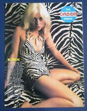 DEBBIE HARRY/BLONDIE Creem Magazine Creem Dream Photo 4-Page Spread 1977