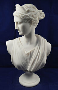 Artemis sculpture Diana bust Ancient Greek Goddess of hunt Great statue