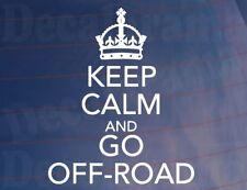 Keep Calm and Go Off Road Novedad Coche 4x4/4WD/van/Etiqueta De La Ventana-Tamaño Pequeño
