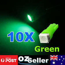 10x T5 GREEN 5050 SMD LED Dash Instrument Light Dashboard Bulb Wedge Globe 12V