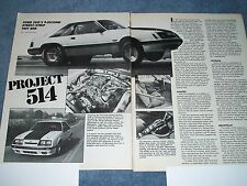 "1986 Mustang SVO Ford Motorsports Drag Test Car Vintage Article ""Project 514"""