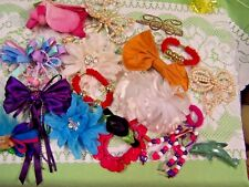 Assortment of Hair Clip Barrettes Bows - Troll Dolphin Beads Ribbons